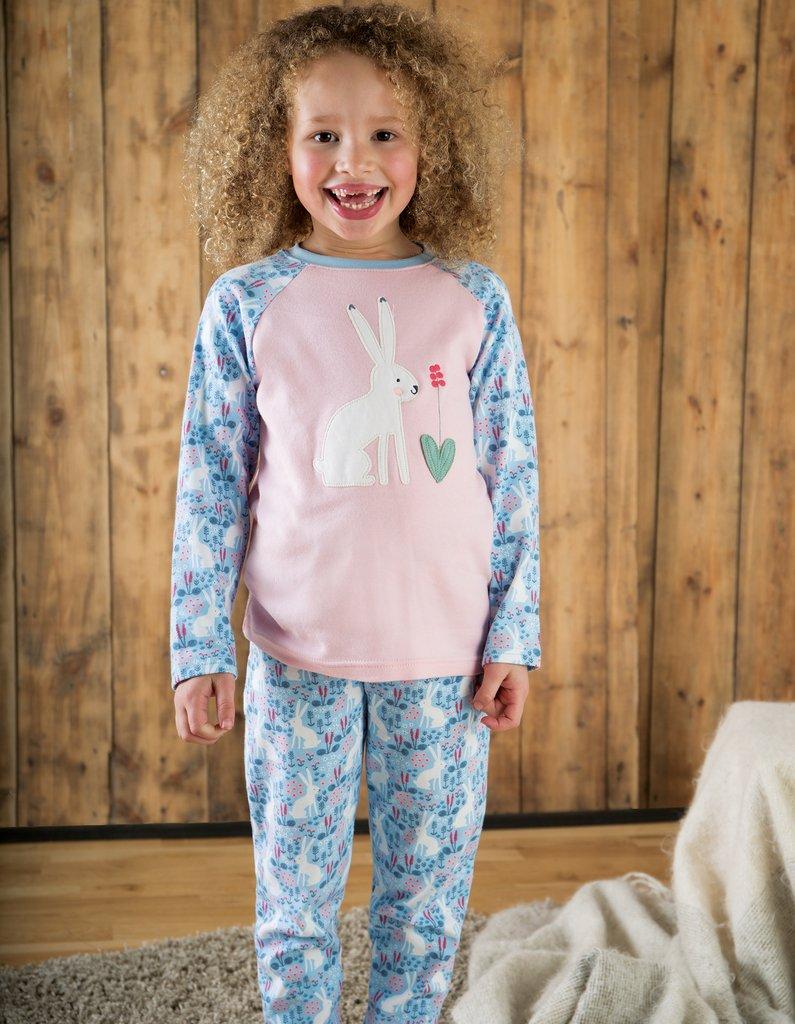 Jamie Jim Jams – Sky Blue Arctic Hares/Hare – Baby Organic Clothes